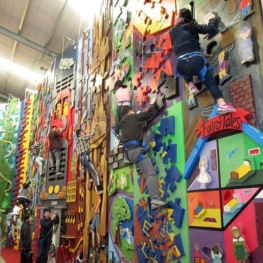 ESOL Business students visit Extreme Edge Rock Climbing