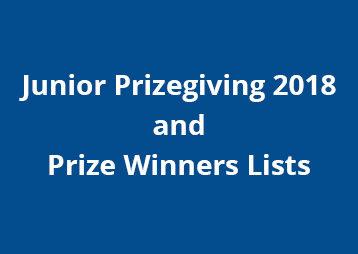 Junior Prizegiving 2018