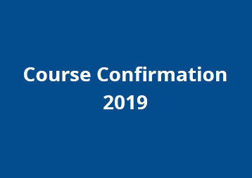 Course Confirmation 2019
