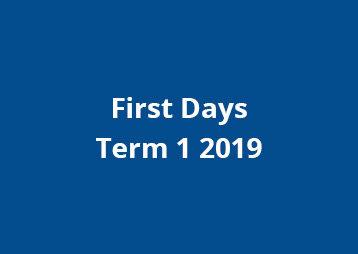First Days 2019