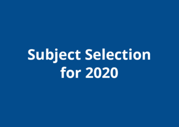 Subject Selection 2020