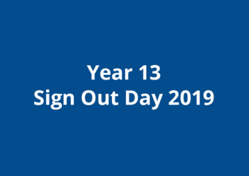 Year 13 Sign Out 2019