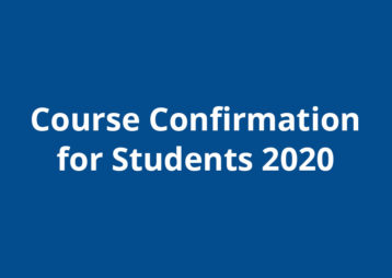 Course Confirmation 2020