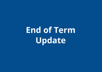End Of Term Update