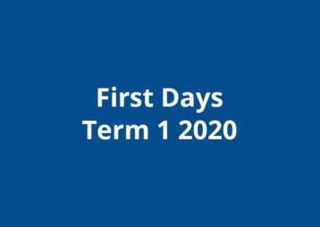 First Days 2020