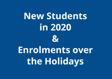 New Students 2020 Enroling Holidays