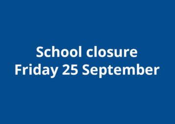 School Closure 25 September 2020