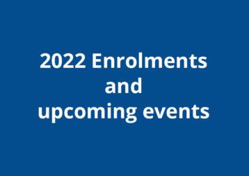 2022 enrolments