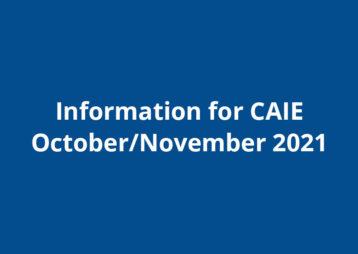 Caie info october november 2021