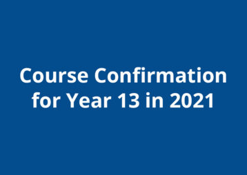 Course Confirmation 2021