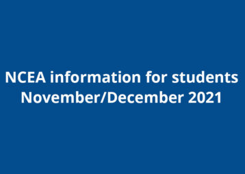 Ncea information 2021