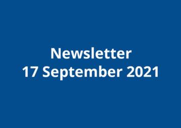 Newsletter 17 september 2021