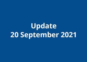 Update 20 september 2021